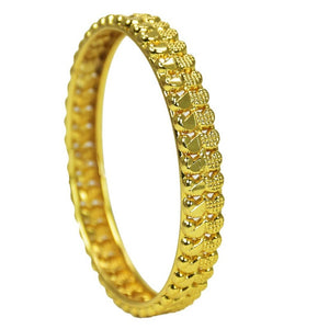 GOLD PLATED PAISLEY MANGO DESIGN DAILY WEAR THICK BANGLES