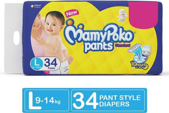MamyPoko Pants Standard Diapers - L  (34 Pieces)