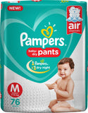 Pampers Baby-Dry Pants Diaper - M  (76 Pieces)