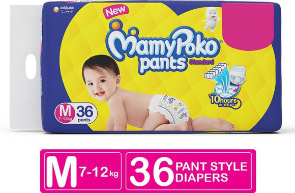 MamyPoko Pants Standard Diapers - M  (36 Pieces)