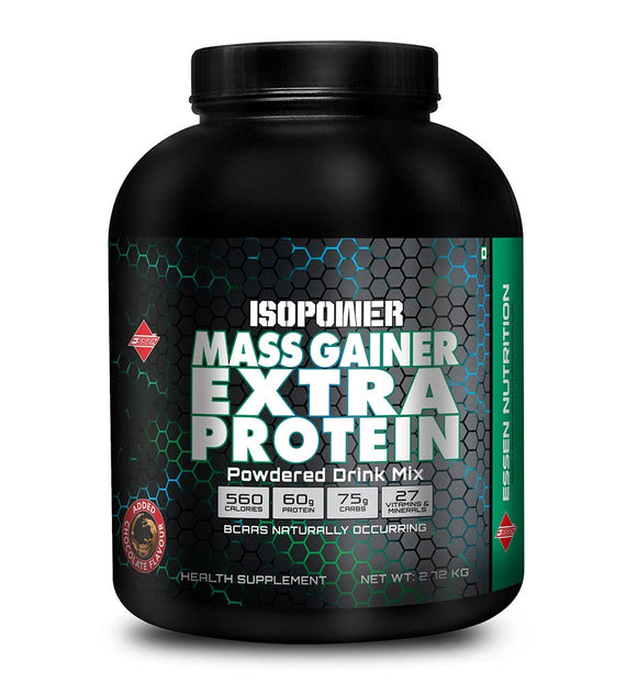 ISOPOWER MASS GAINER EXTRA PROTEIN  CHOCOLATE | 2.7KG