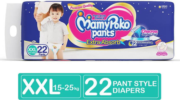 MamyPoko Pants Extra Absorb Diapers - XXL  (22 Pieces)