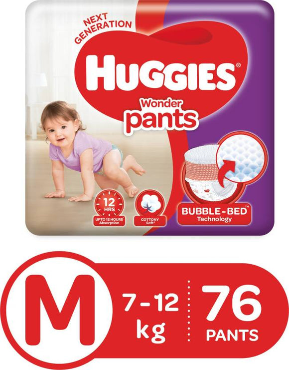 Huggies Wonder Pants Diaper - M  (76 Pieces)