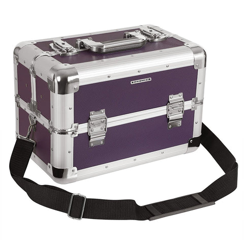 Songmics Purple Vanity Case