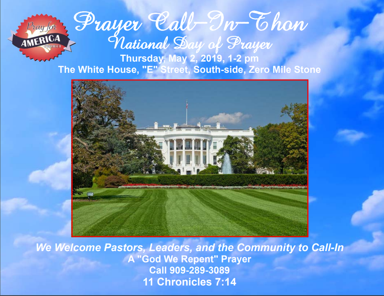 House of Prayer International National Day Of Prayer May 1st and 2nd 2019