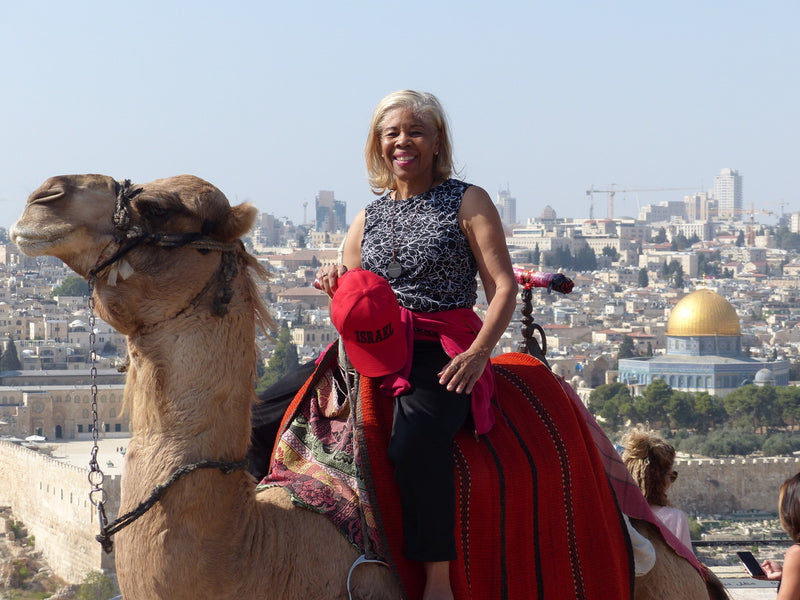 Dr. Tirazah Huff Arrives in Jerusalem, Israel on Mt. Olives
