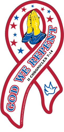 God We Repent Awareness Ribbon Magnet