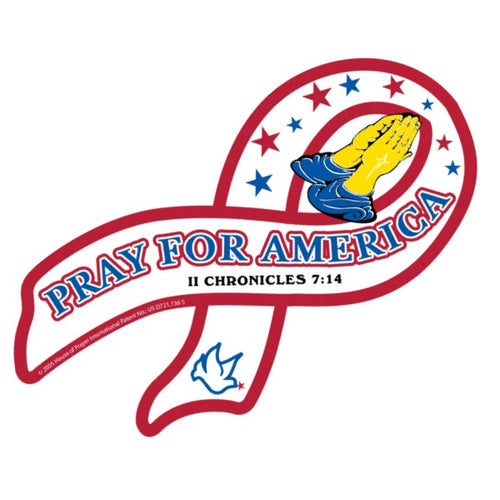 Pray For America Awareness Ribbon Magnet