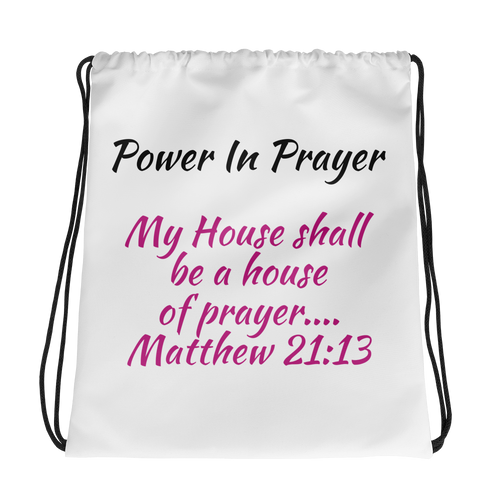 Power Of Prayer Drawstring Bag