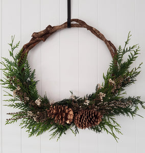 Christmas Wreath Workshop -  Thursday 10 December 2020 (6pm - 8:30pm)