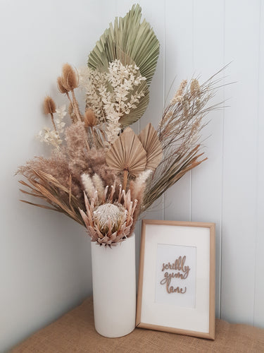 Dried Floral Arrangement - Vase Included