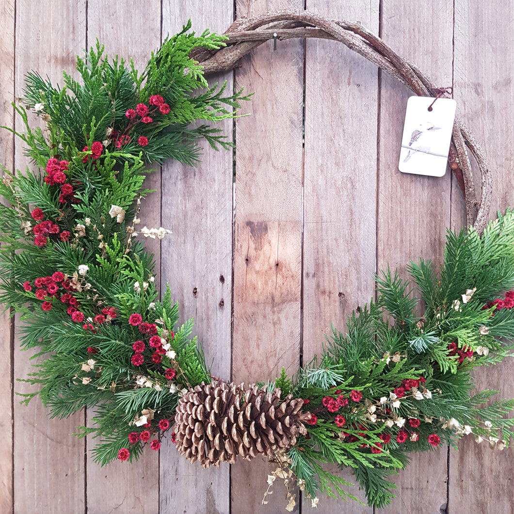 Christmas Wreath Workshop - Sunday 6 December 2020 (1pm - 4pm)