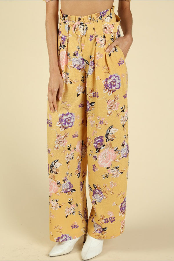 floral print, high waisted pleated pants, yellow pants, paperbag waist, summer outfits, spring outfits, summer wear, spring trends 2020, fashion week, new york fashion week, coachella outfits, coachella outfit ideas, festival looks, musical festival outfits, coachella dress, festival season, festival style, coachella beyonce, coachella top, plus size clothing, plus size dresses, plus size swimwear, maxi dresses, midi dress, mini dress