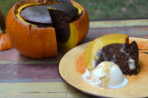 Teff Cake in a Pumpkin