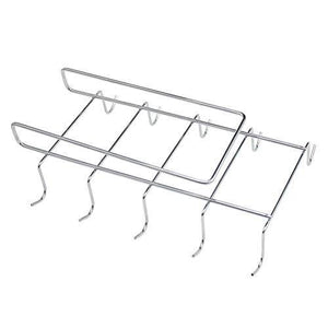 Latest wellobox coffee mug holder under cabinet cup hanger rack stainless steel hooks cup rack under shelf for bar kitchen storage fit for the cabinet