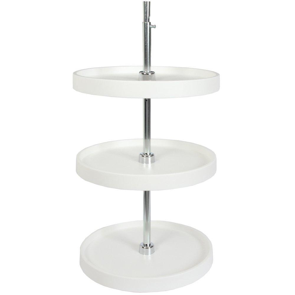 Organize with knape vogt pfn18s3t w 40 25 by 18 by 18 inch 3 tier round polymer lazy susan cabinet organizer full