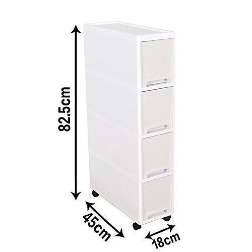 Storage organizer shozafia narrow slim rolling storage cart and organizer 7 1 inches kitchen storage cabinet beside fridge small plastic rolling shelf with drawers for bathroom