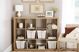 Discover better homes and gardens bookshelf square storage cabinet 4 cube organizer weathered white 4 cube weathered 12 cube