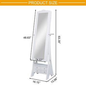 Buy yokstore jewelry cabinet organizer led mirrored jewelry storage armoire with full length standing large capacity makeup dressing mirror wardrobe for bedroom white