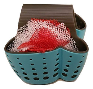 RJF Brands Kitchen Caddy Sink Organizer. Sturdy Plastic Storage Baskets and Sponge Holder for Kitchen Organization. Sink Saddle Design is Perfect as a Soap Holder. Includes Dishwool Mesh Scrubber.