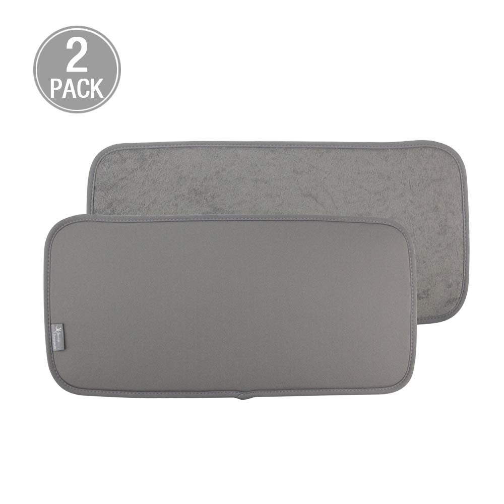 Y.VN 9 by 18-Inch Microfiber Dish Drying Mat -2 pack, Grey