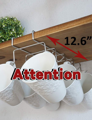 Kitchen bafvt coffee mug holder 304 stainless steel cup rack under cabinet 10hooks fit for the cabinet 0 8 or less