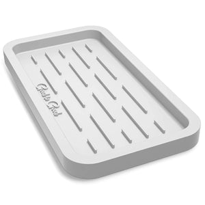 Good to Good Sponge Holder - Kitchen Sink Organizer Tray for Sponges, Soap Dispenser, Scrubber, and Other Dishwashing Accessories - Light Gray Like White