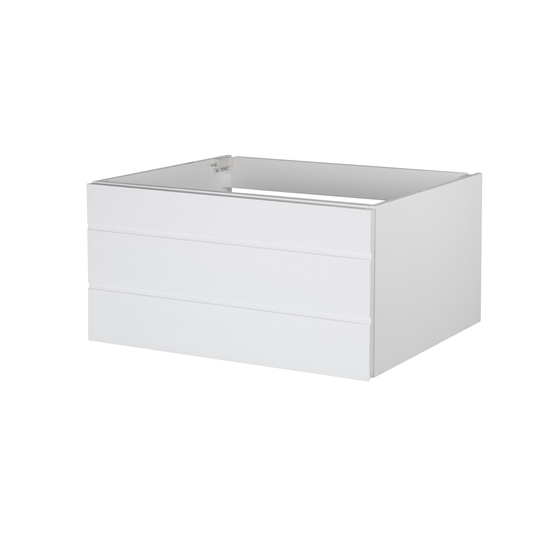 Shop maykke dani 36 bathroom vanity cabinet in birch wood white finish modern and minimalist single wall mounted floating base cabinet only ysa1203601
