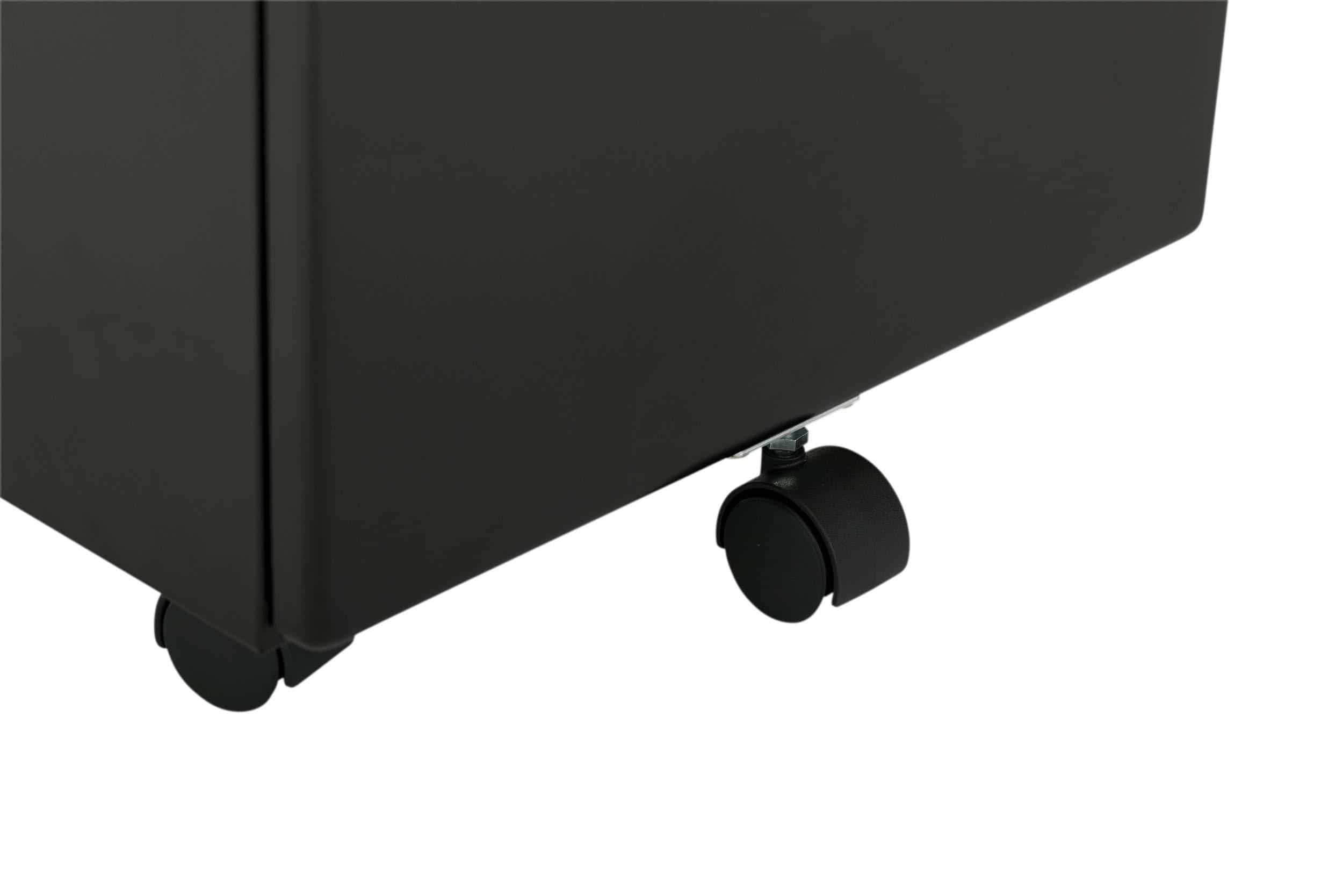 Explore craft hobby essentials 62002 metal 3 vertical mobile filing cabinet 15 75 w x 22 d craft supply storage with locking drawers in black