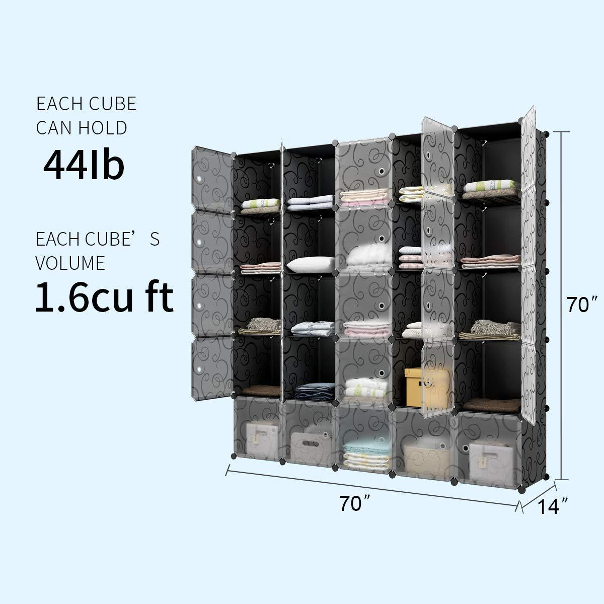 Top rated kousi cube organizer storage cubes organizers and storage storage cube cube storage shelves cubby shelving storage cabinet toy organizer cabinet black 25 cubes