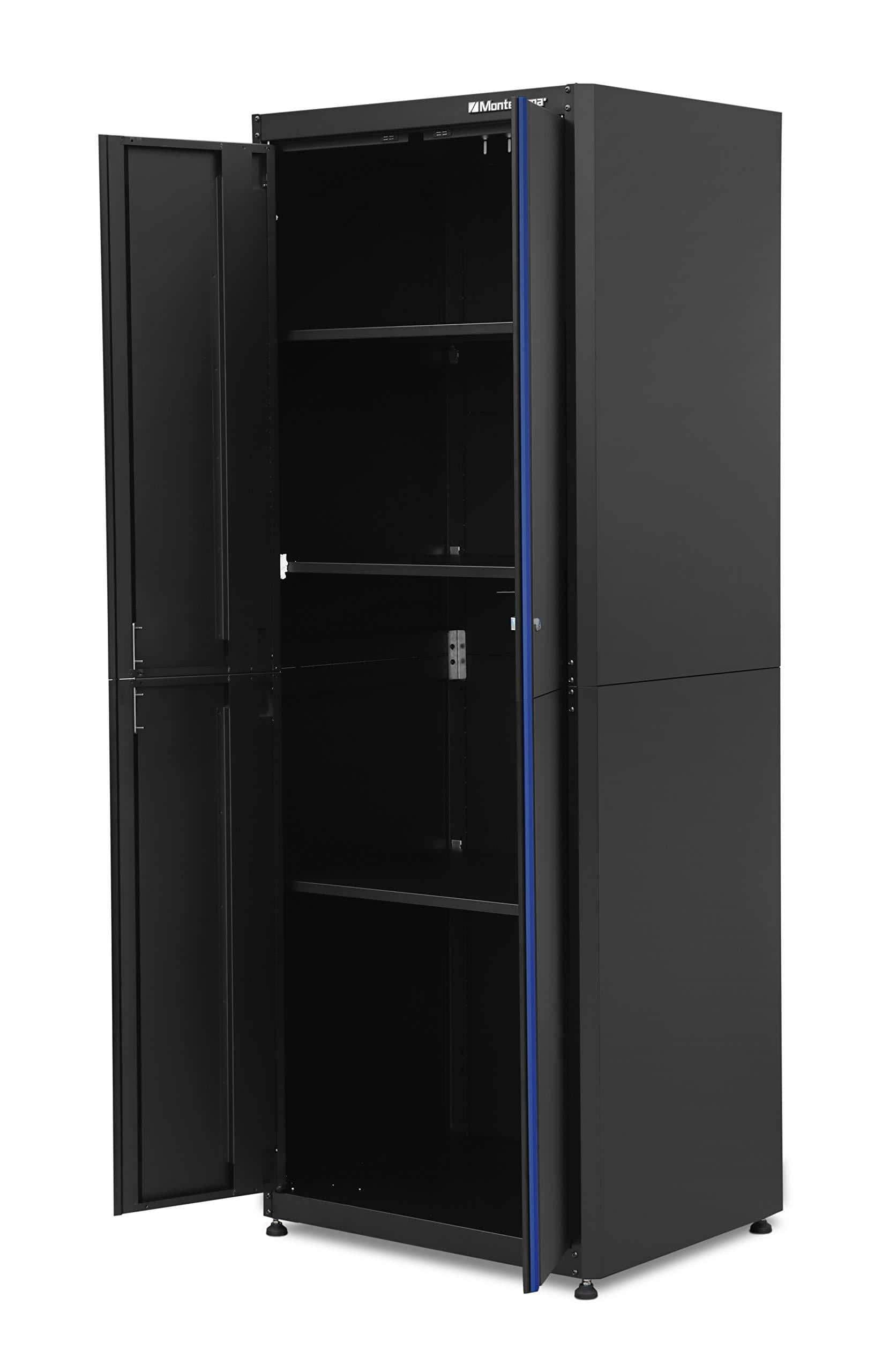 Order now montezuma garage tool storage system 30 5 x 24 locking 2 door standing cabinet with magnetic latches black powder coat finish bkmg3024tbc