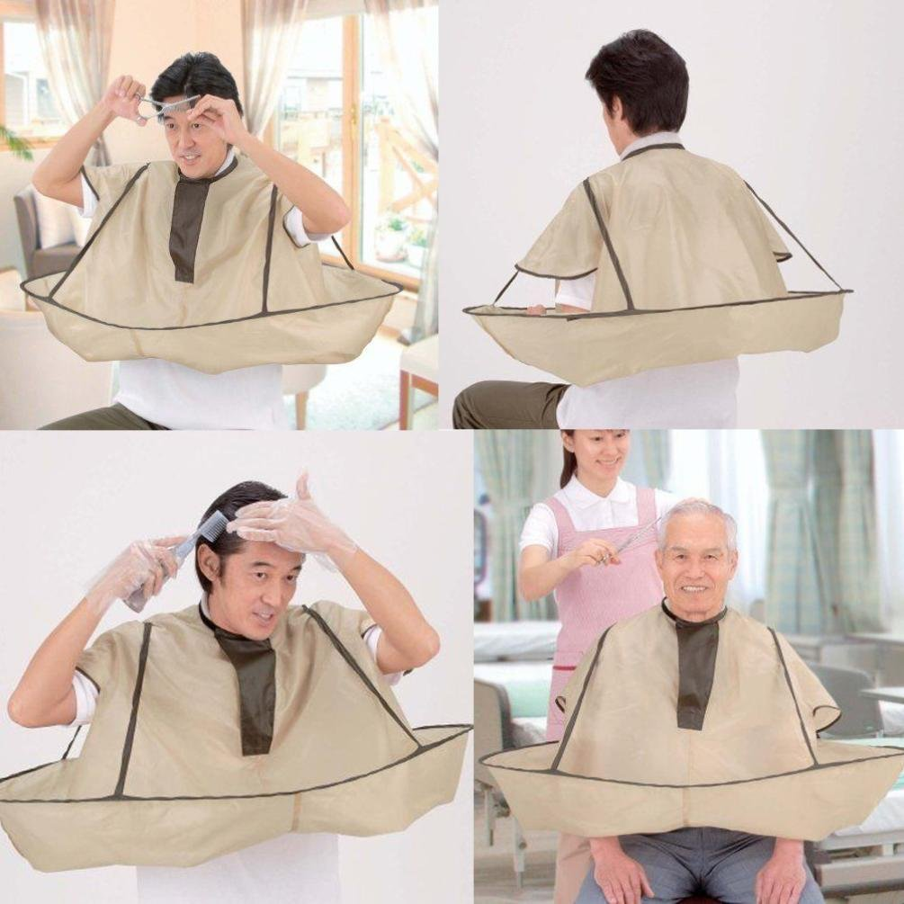 YJYdada DIY Hair Cutting Cloak Umbrella Cape Salon Barber Salon And Home Stylists Using