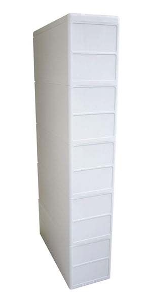Top boby 5 storage drawers rolling cart organizer plastic drawers unit on wheels tower narrow slim container cabinet for bathroom bedroom 17 7 x 7 x 38 8 inches