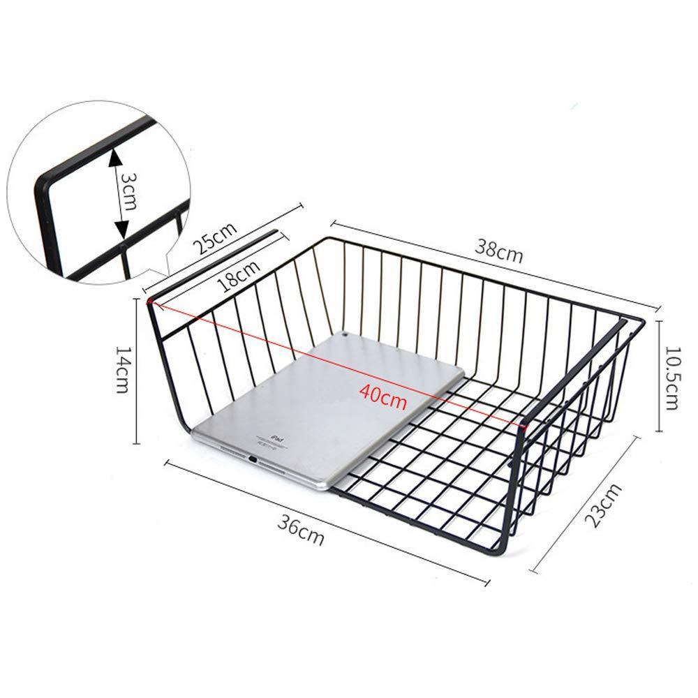 The best esupport under shelf storage basket hanging under cabinet wire basket organizer rack dormitory bedside corner shelves for kitchen pantry desk bookshelf cupboard