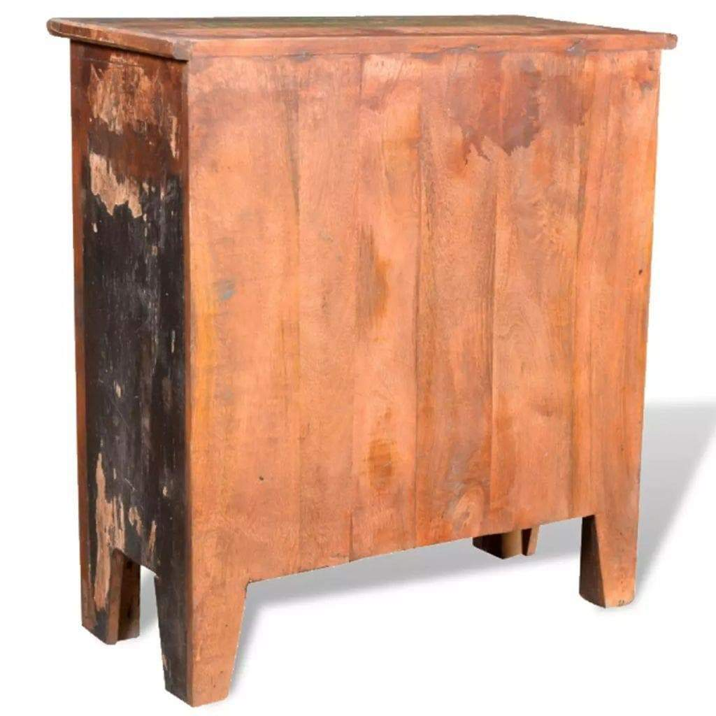 Top rated festnight buffet sideboard with 4 storage drawers reclaimed wood storage cabinet handmade for living room kitchen bedroom home furniture 26 x 12 x 28