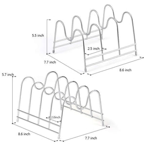 Buy nex 2 pack kitchen cabinet pan and pot lid organizer rack holder
