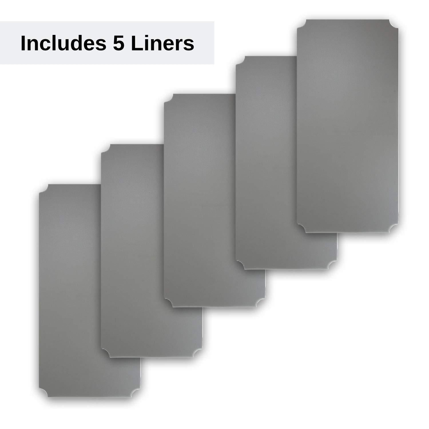 New houseables wire shelf liner plastic non adhesive 14x30 5 pk clear gray utility rack protector mats for drawers kitchen cabinet tier shelving unit cupboard heavy duty nonslip waterproof