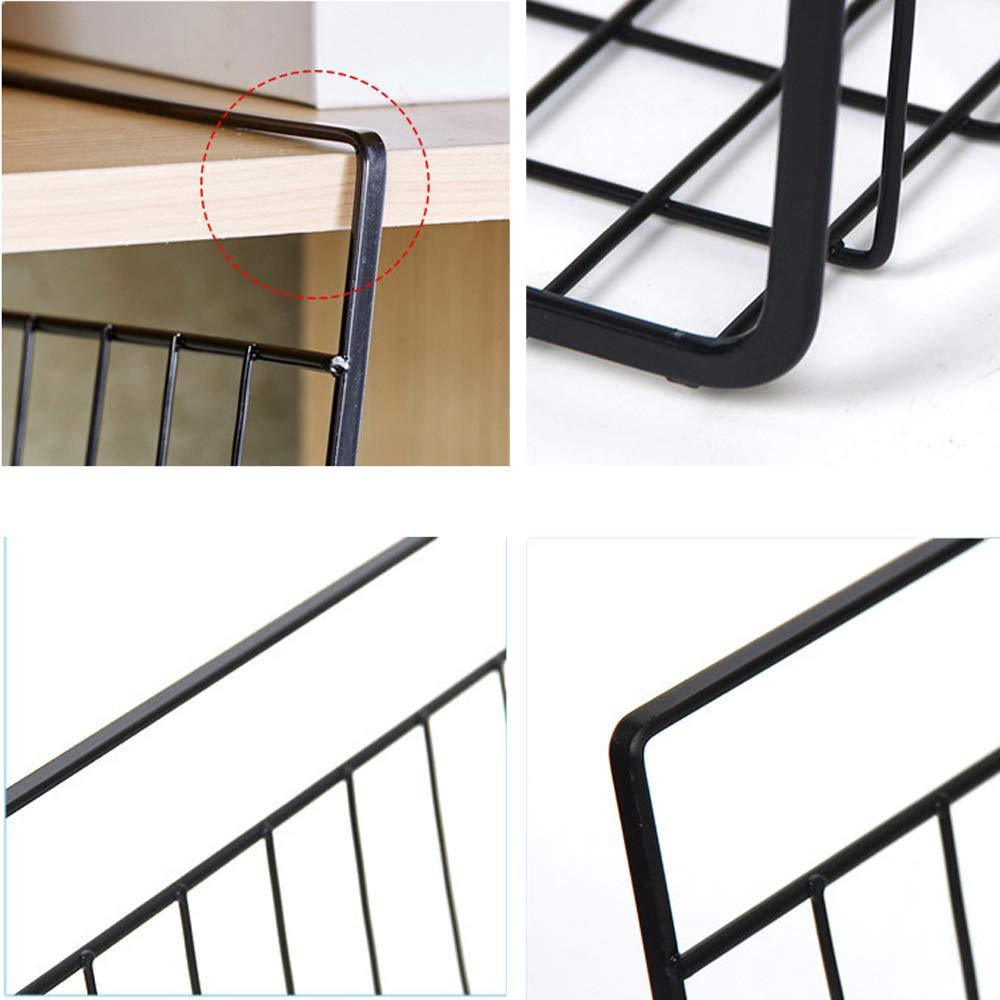 Top esupport under shelf storage basket hanging under cabinet wire basket organizer rack dormitory bedside corner shelves for kitchen pantry desk bookshelf cupboard