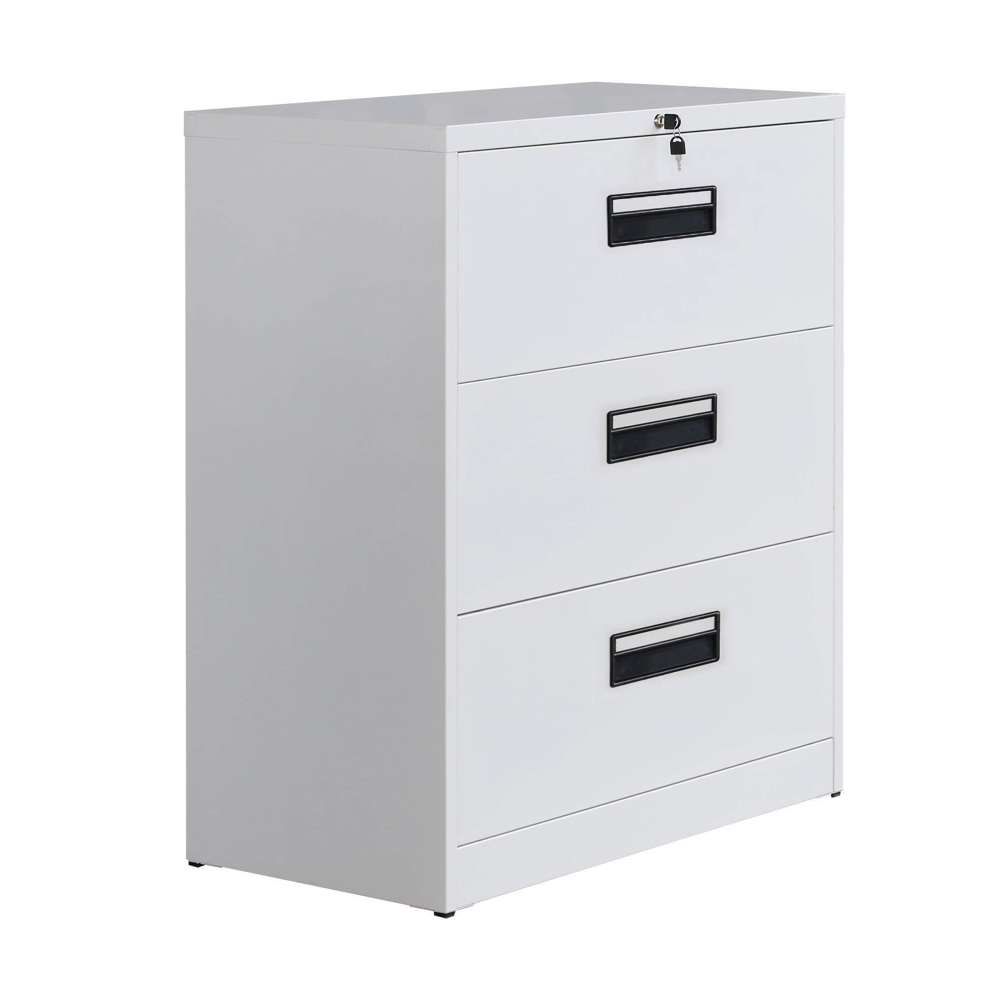 Amazon merax lateral file cabinet 2 drawer locking filing cabinet 3 drawers metal organizer with heavy duty hanging file frame for legal business files office home storage