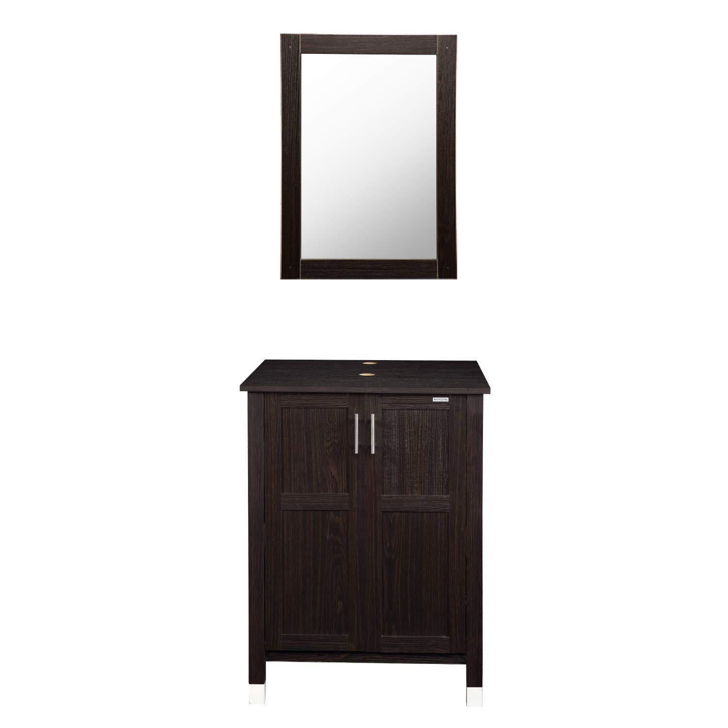 Shop here modern bathroom vanity and sink combo stand cabinet with vanity mirror single mdf cabinet with blue glass vessel sink round bowl