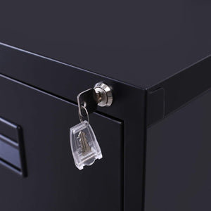 Select nice modernluxe metal lateral file cabinet steel vertical lockable filing cabinet 3 drawer with locks black 18w 24 4d 40 3h