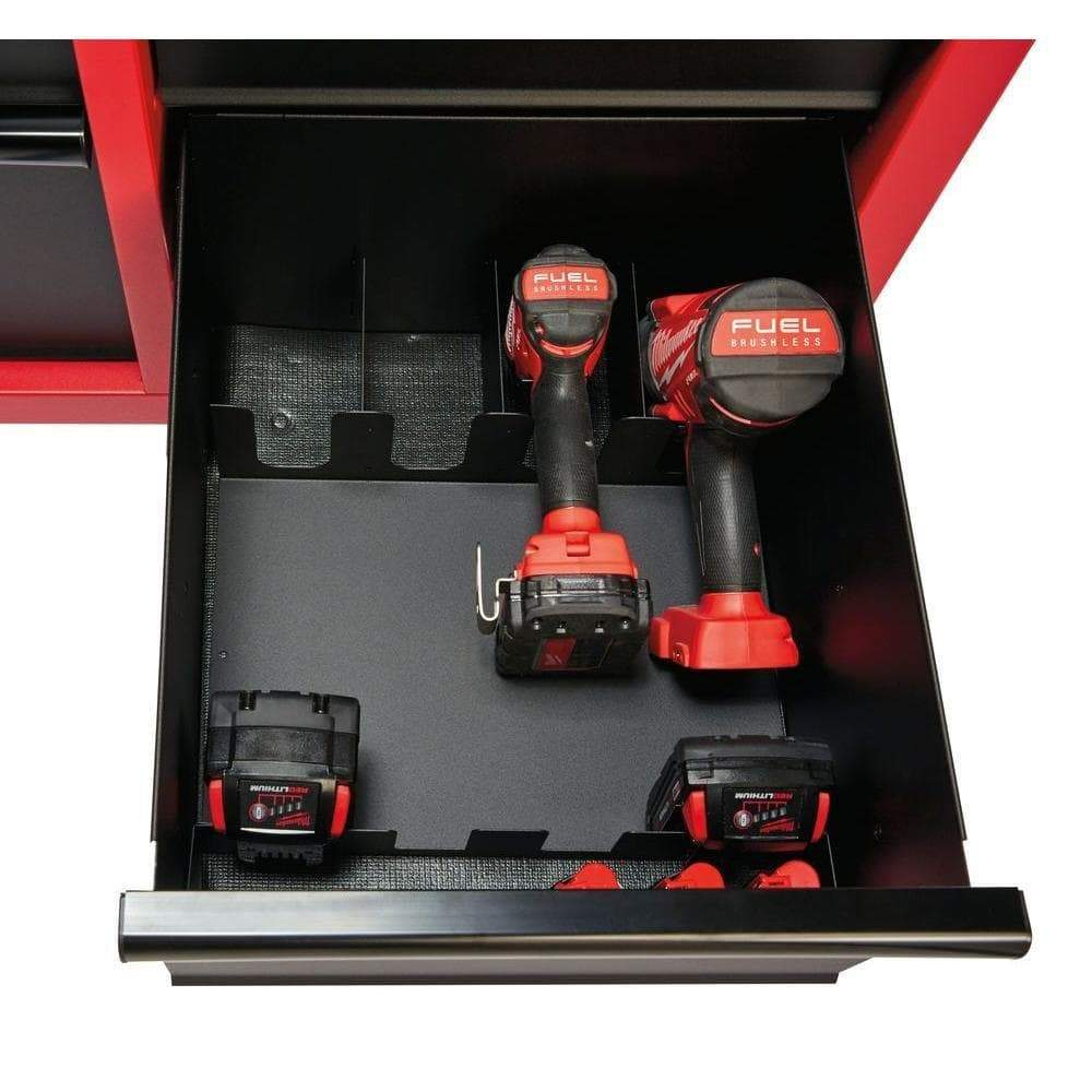 Results milwaukee heavy duty red black 46 in 8 drawer rolling steel storage cabinet contemporary hardware chest for your carpentry or construction tools like drills wrenches drivers battery packs