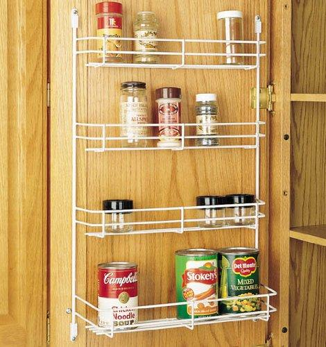 "Rev-A-Shelf 565-14-52 Wall 14"" Door Mount Spice Rack - Wire-White"