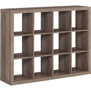 Featured better homes and gardens bookshelf square storage cabinet 4 cube organizer weathered white 4 cube rustic gray 12 cube