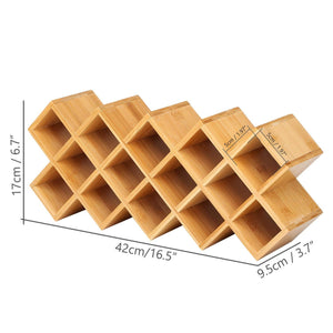 Try criss cross 18 jar bamboo countertop spice rack organizer kitchen cabinet cupboard wall mount door spice storage fit for round and square spice bottles free standing for counter cabinet or drawers