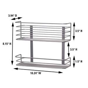 Try household essentials 1228 1 double basket door mount cabinet organizer mounts to solid cabinet doors or wall