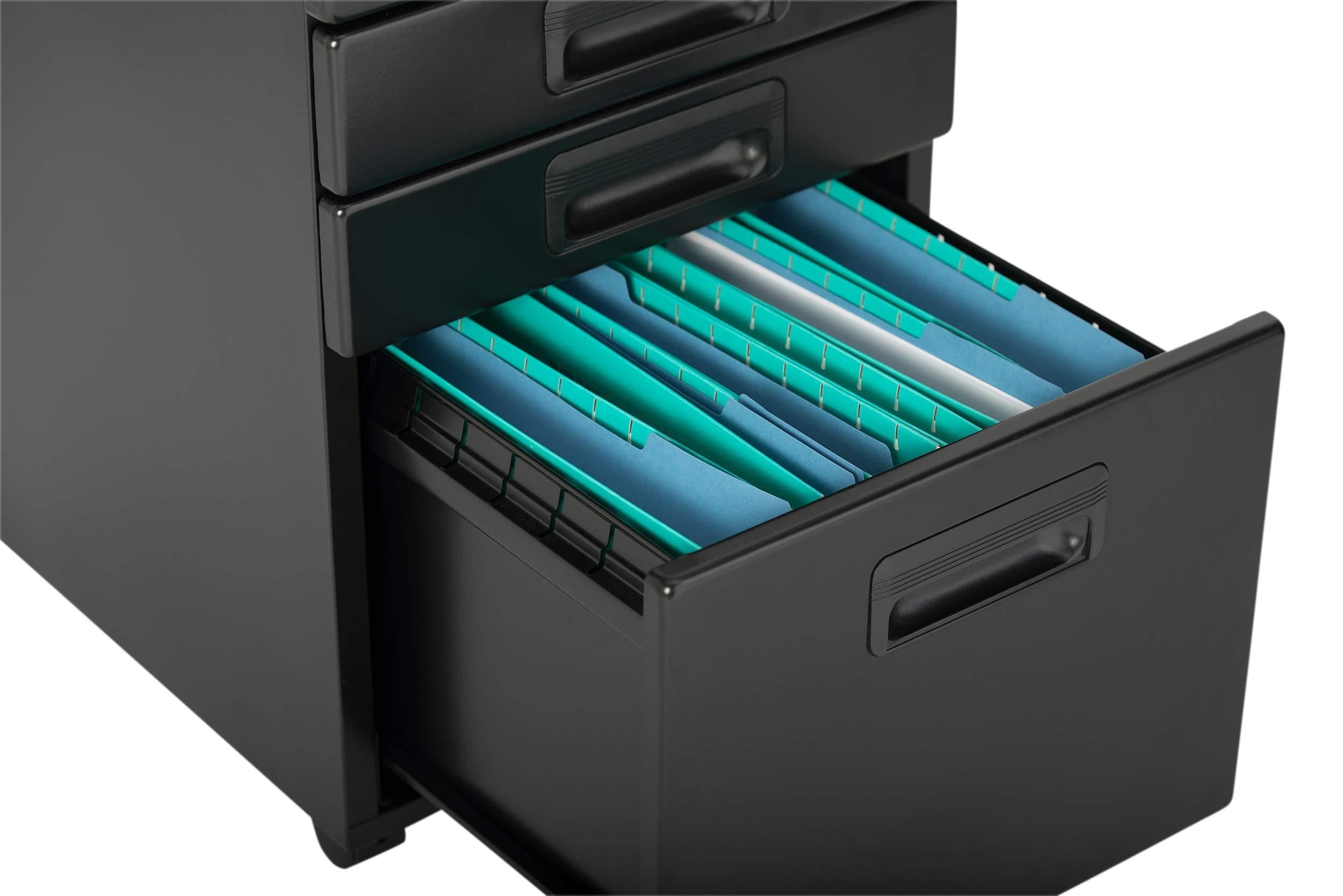 Great craft hobby essentials 62002 metal 3 vertical mobile filing cabinet 15 75 w x 22 d craft supply storage with locking drawers in black