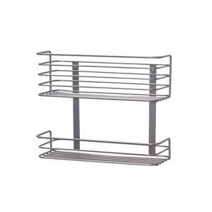 Top household essentials 1228 1 double basket door mount cabinet organizer mounts to solid cabinet doors or wall