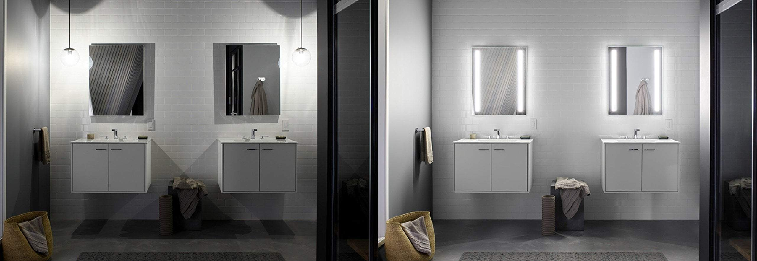 Best kohler k 99011 tl na verdera 40 inch x 30 inch led lighted bathroom medicine cabinet slow close hinge internal magnifying mirror aluminum recess or surface mount 3 doors