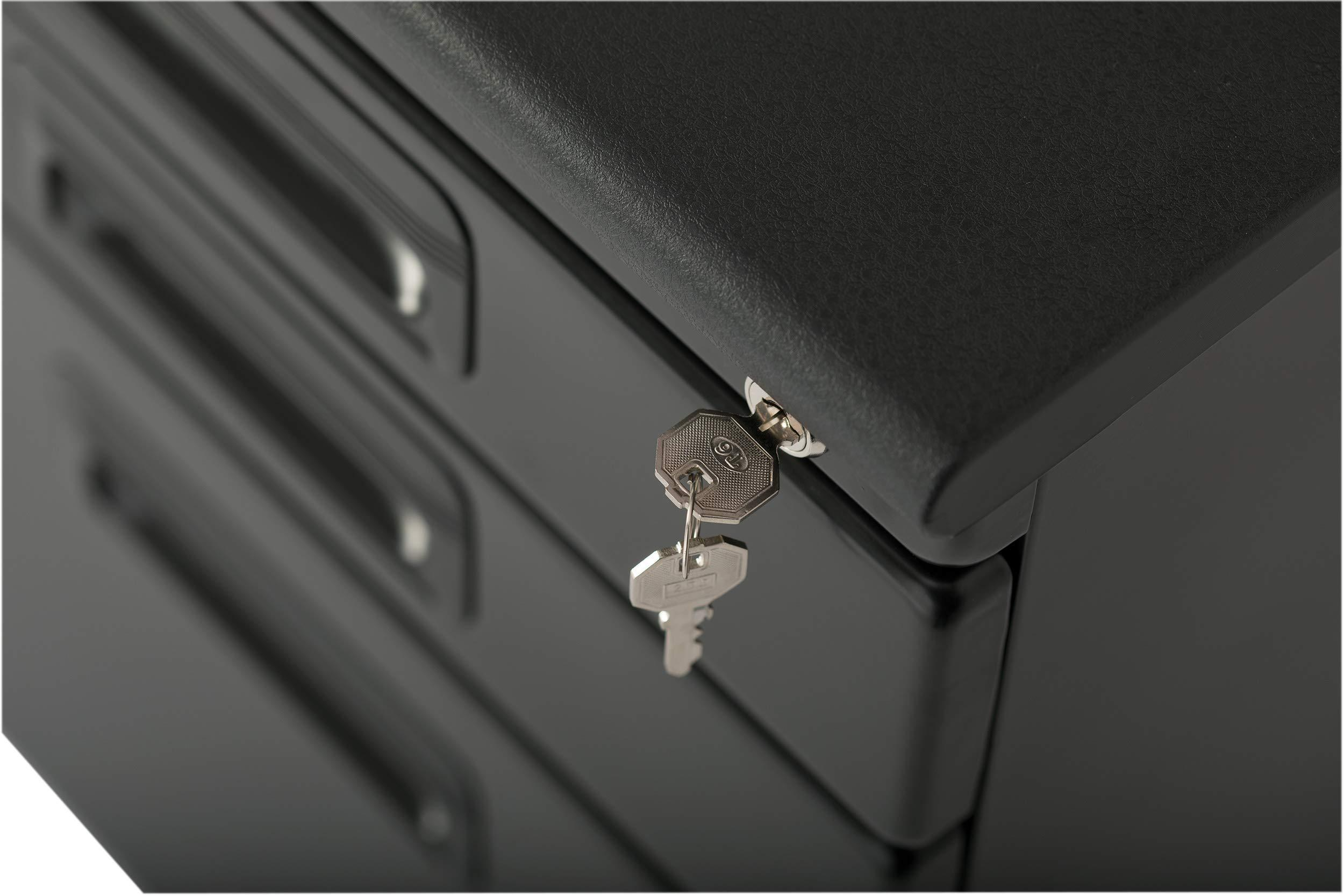 Featured craft hobby essentials 62002 metal 3 vertical mobile filing cabinet 15 75 w x 22 d craft supply storage with locking drawers in black
